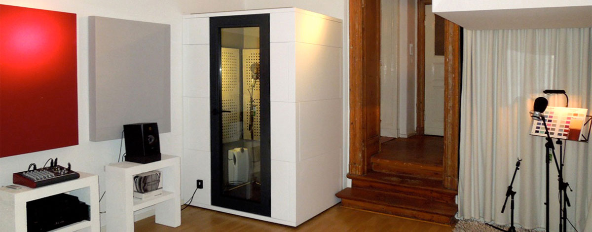 Acoustic soundproof booths
